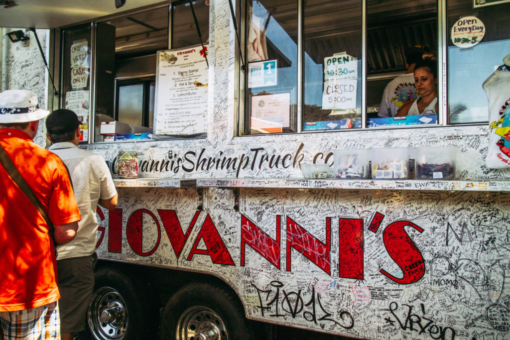 How to spend a day on the North Shore of Oahu - Giovanni's Shrimp Truck