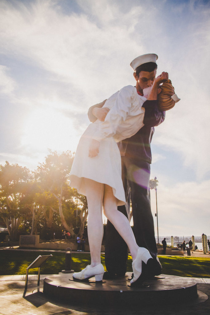 WWII Statue in Seaport Village, San Diego