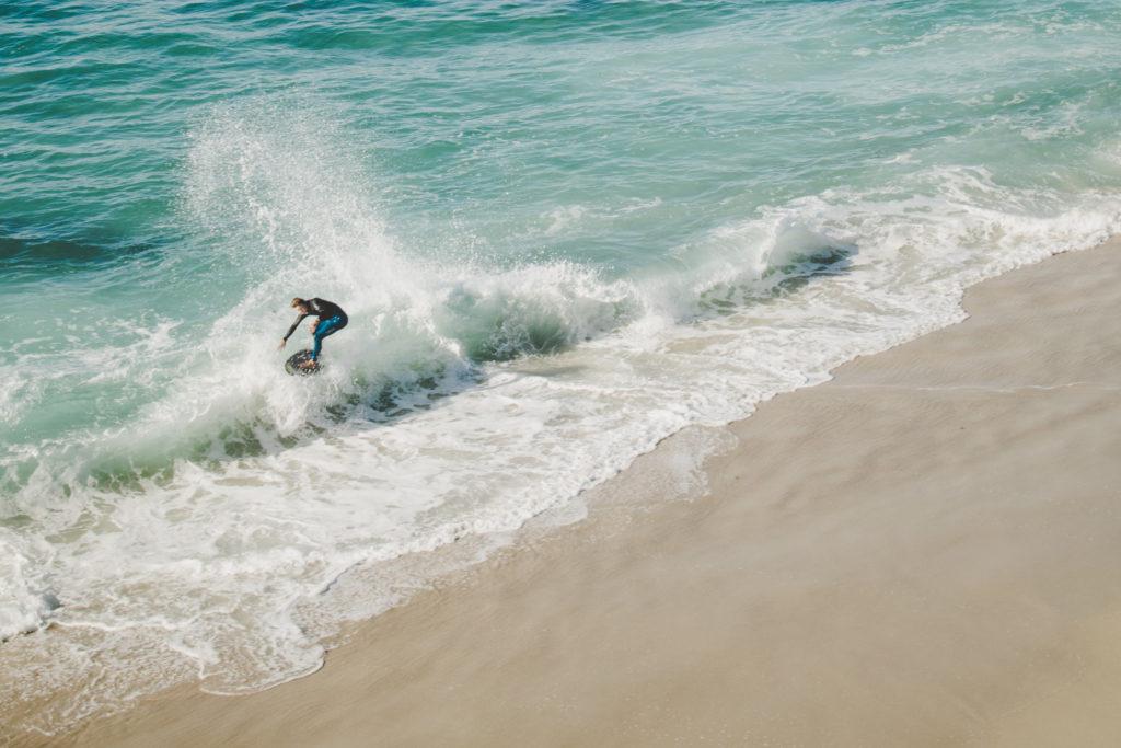 Surfers at La Jolla Coves