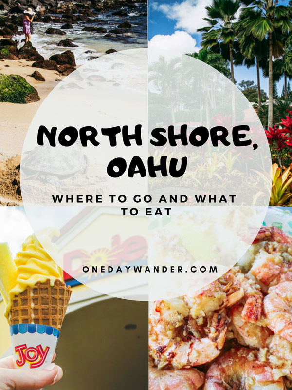 The perfect one-day itinerary for Oahu's North Shore. What to eat and where to go on the North Shore.