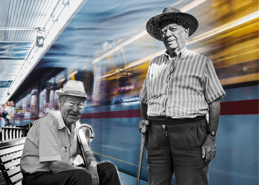The 12 Kinds of People You See on the LA Metro: The Old Friends