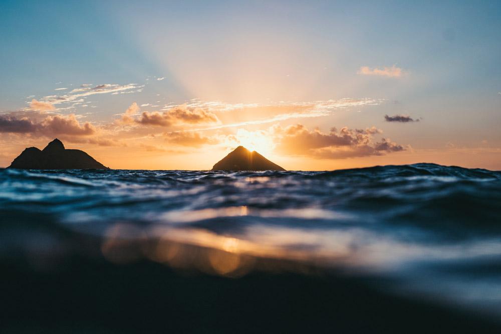 Lanikai Beach in Oahu at sunset. Photo credit - Ryan Pernofski